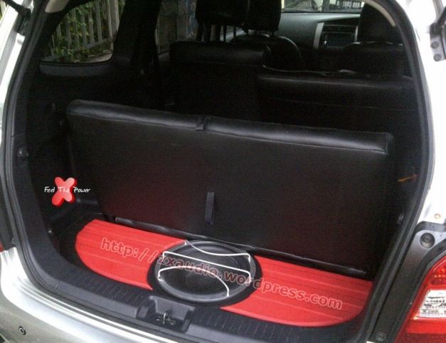 Box Subwoofer Tanam Grand Livina, Bagasi Tetap Luas by ZX Audio