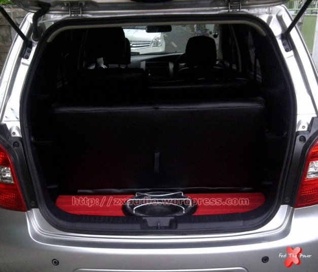Carsmetic Box Subwoofer Tanam Mobil Nissan Grand Livina by ZX Audio